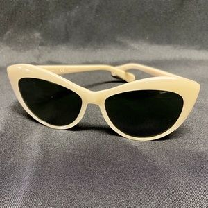 Tory Burch Cream Cat Eye Sunglasses